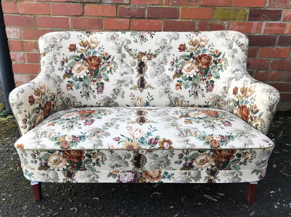 Restored Danish Mid Century Sofa