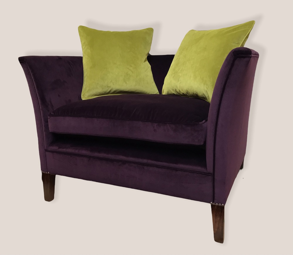 Purple Velvet Sofa