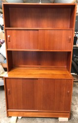 Clausen and Son bookcase sliding drawers
