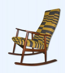Mid Century Danish teak rocking chair