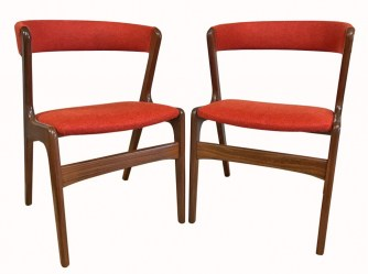 Four Kai Kristiansen teak dining chairs