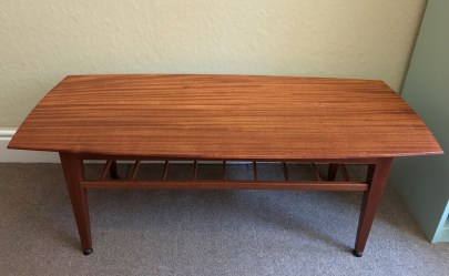 Mahogany Mid Century Coffee Table