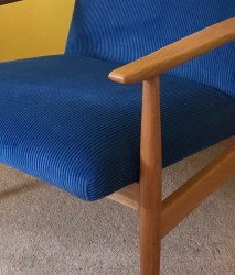 Pair mid century restored arm chairs