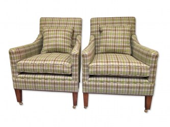 Pair Edwardian Style New Am Chairs