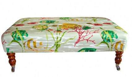 Tropical Fish Footstool