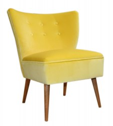 Yellow Velvet Cocktail Chair