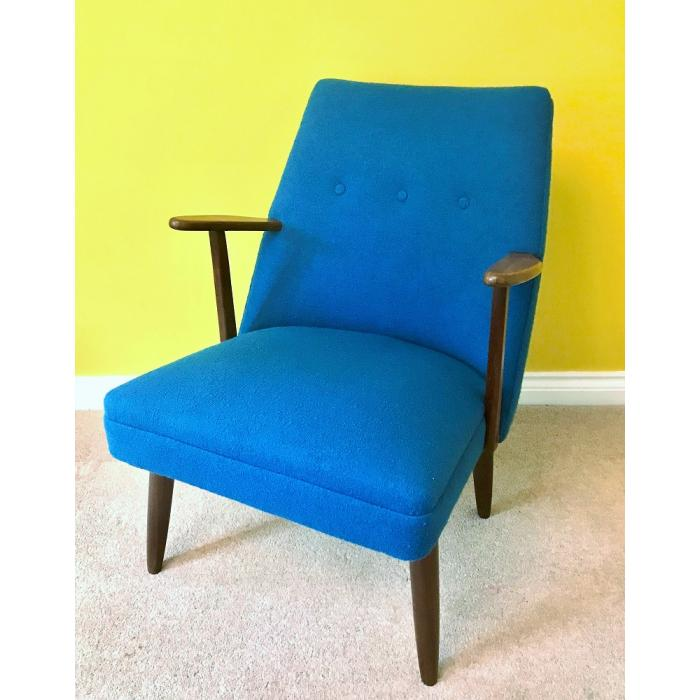 Danish teak arm chair blue textured wool1.jpg_1